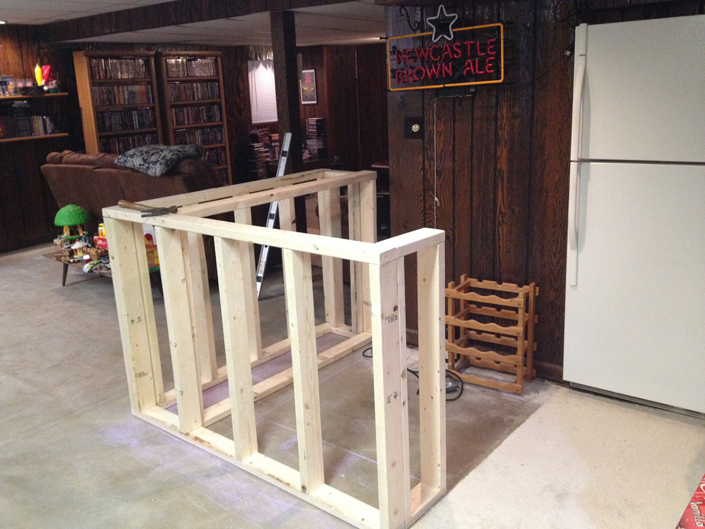 diy wood bar. Building A Bar Frame Bar  Front DIY How To Build Your Own Oak Home John Everson