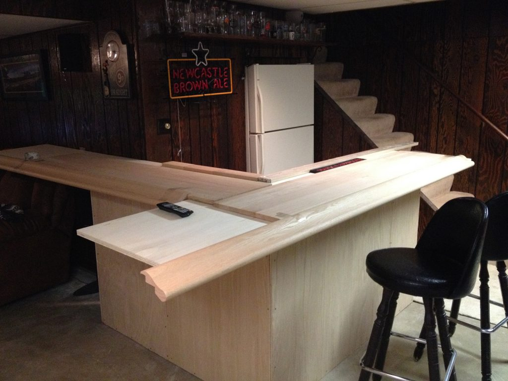 bar top - making the cuts