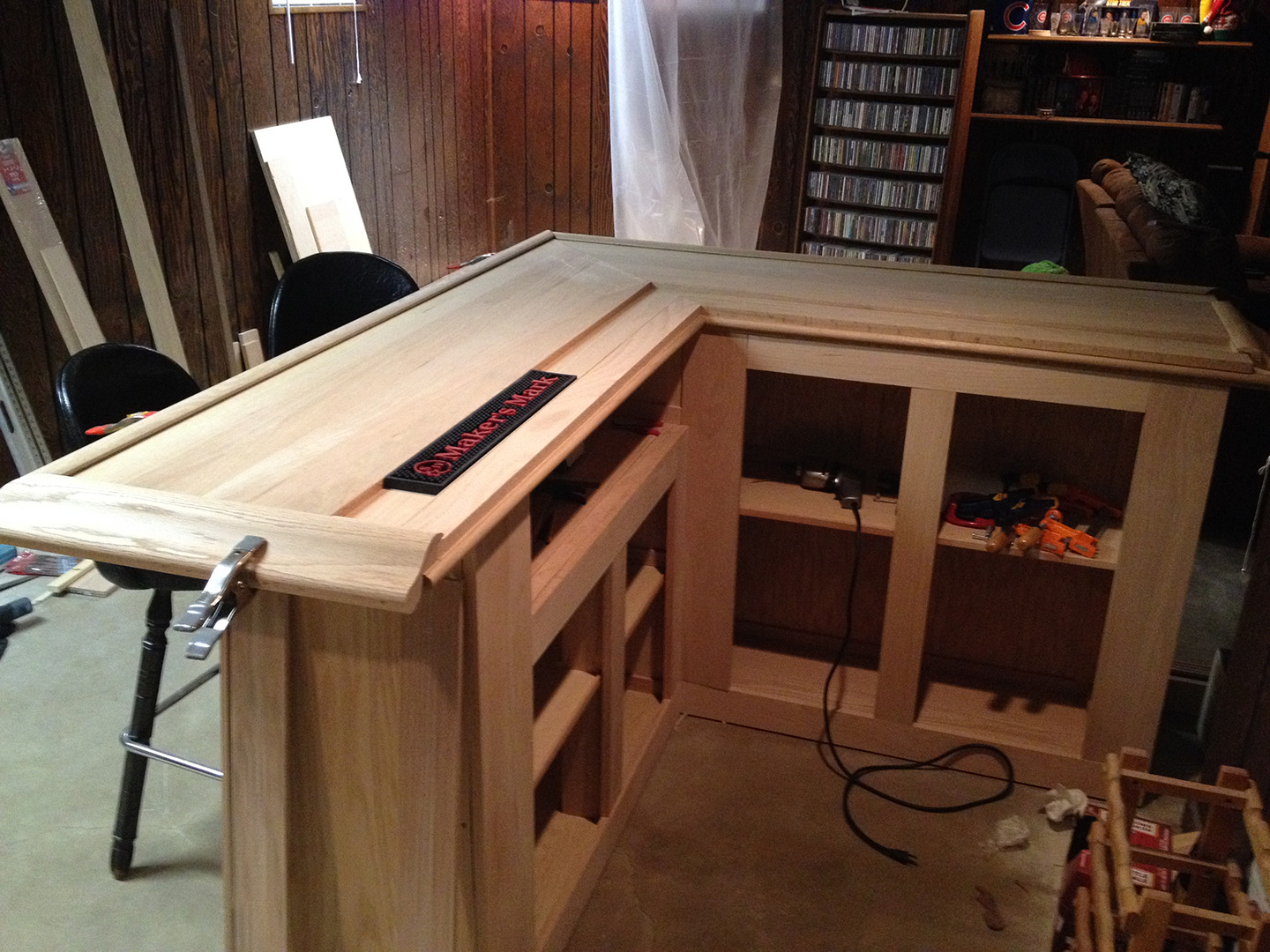Diy how to build your own oak home bar john everson - Building a new home ideas ...