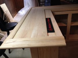 unfinished home oak bar top