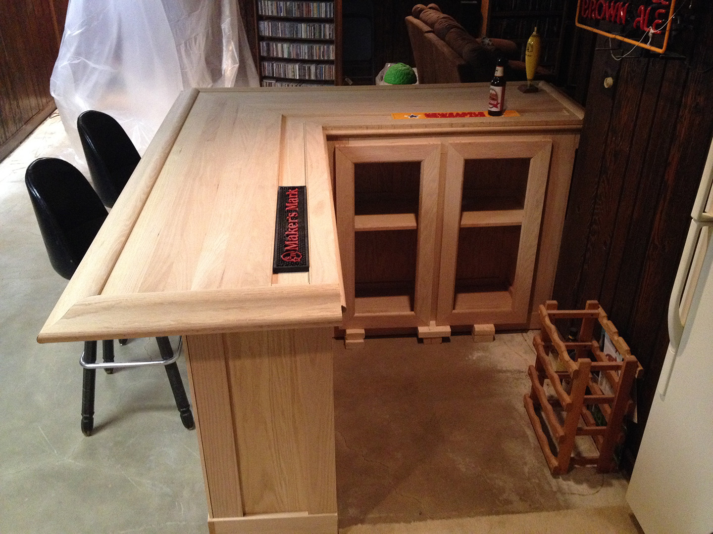 Diy How To Build Your Own Oak Home Bar John Everson