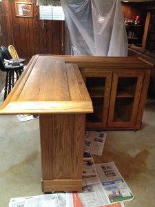 home oak bar - stained