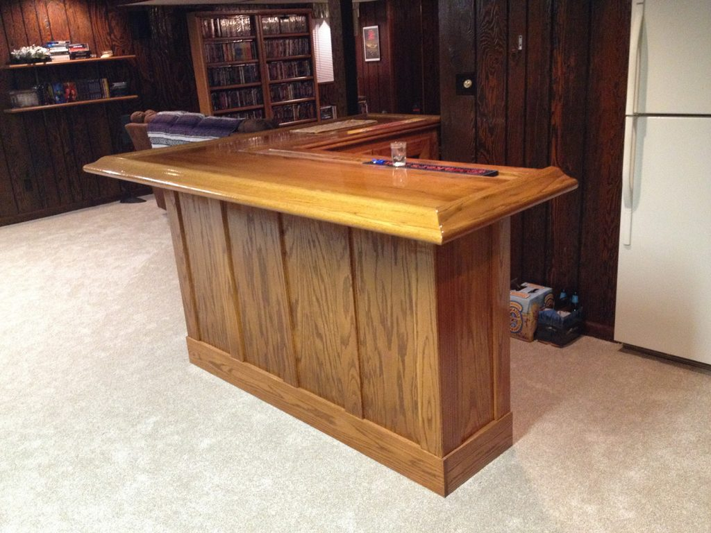 oak home bar - varnished - final