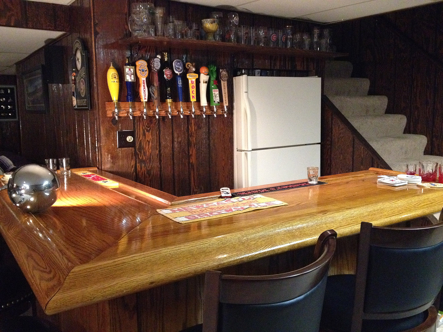 Superior Oak Home Bar IF I CAN DO ITu2026 Anyone Can.